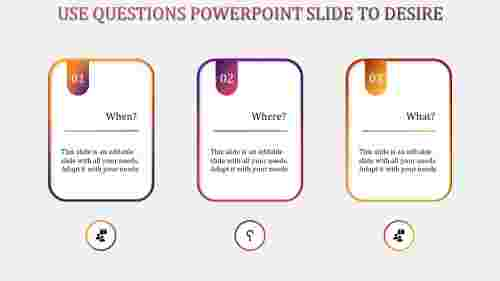 questions powerpoint slide