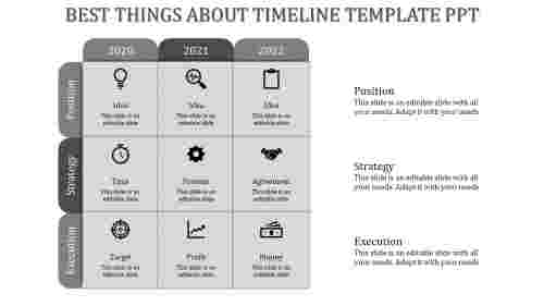 timeline template ppt-Gray