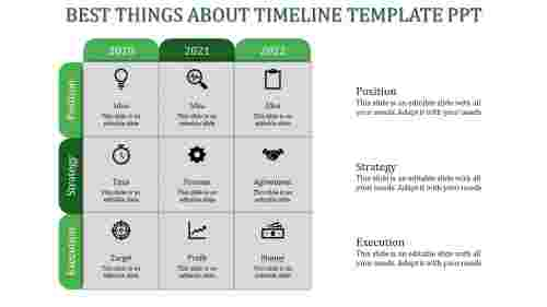 timeline template ppt-Green