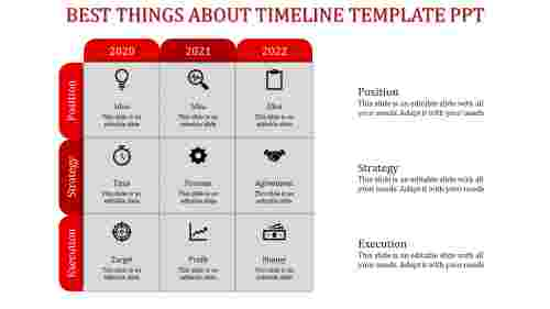 timeline template ppt-Red