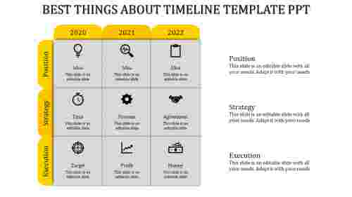 timeline template ppt-Yellow