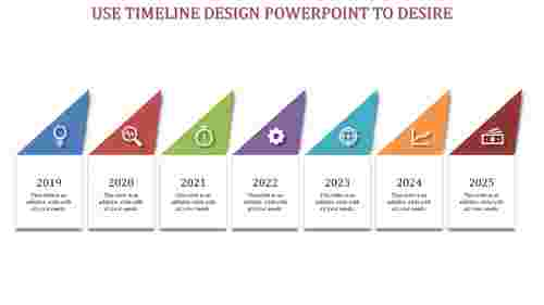 timeline design powerpoint - triangle model