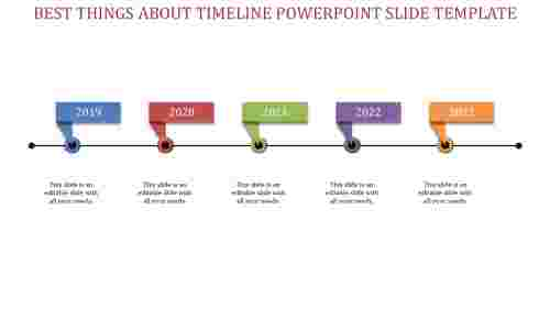 highlighted timeline powerpoint slide template