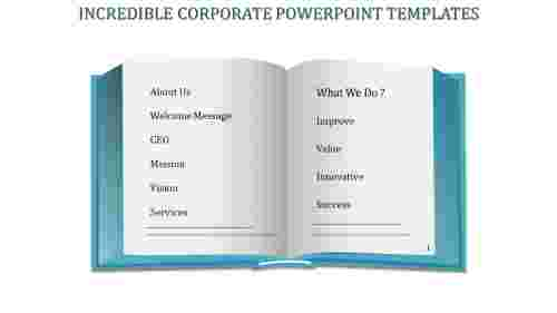 A two noded Corporate powerpoint templates
