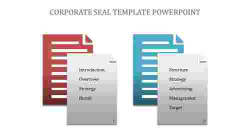 A two noded Corporate Seal Template Powerpoint