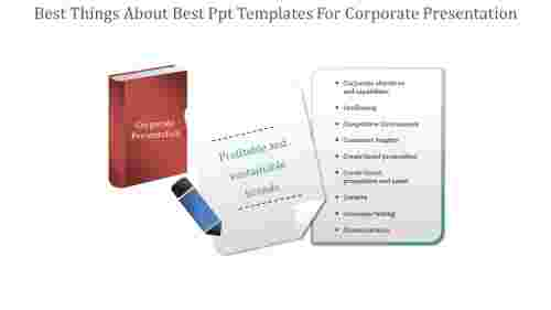 A nine noded Best PPT templates for corporate presentation
