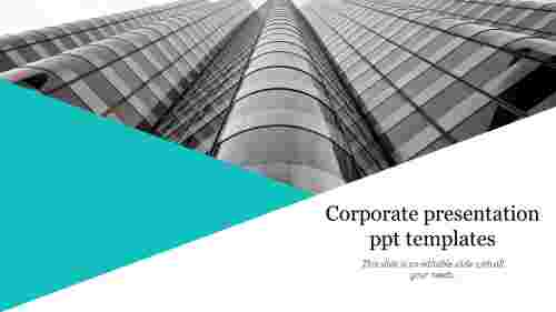 A one noded corporate presentation ppt templates