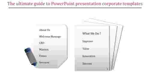 A two noded powerpoint presentation corporate templates