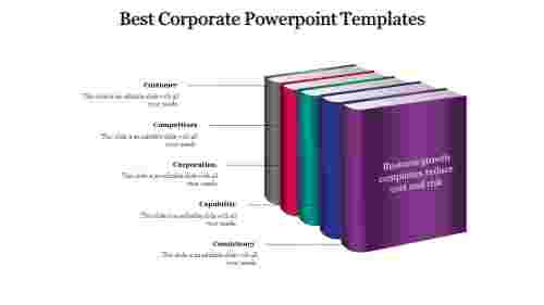 A five noded best corporate powerpoint templates