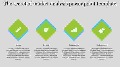 Diamond Model Market Analysis Power Point Template