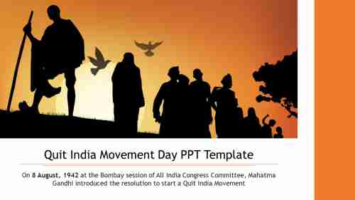 Quit%20India%20Movement%20Day%20PPT%20Template%20Slide