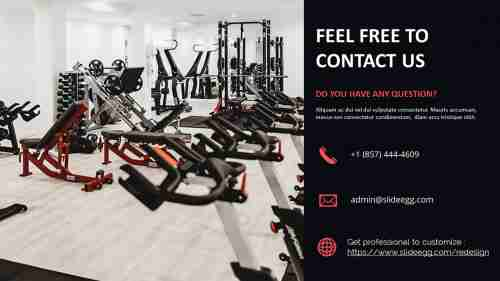 Gym%20powerpoint%20theme%20with%20Contact%20%20details