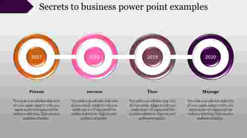 Business PowerPoint Design Template – Timeline Presentation