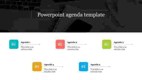 Best  powerpoint agenda template slide