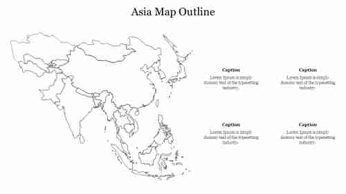 Asia%20Map%20Outline%20PPT%20Template