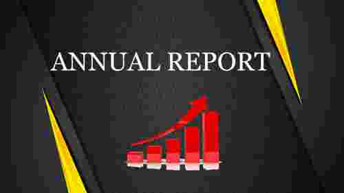 annual report PPT with designed background