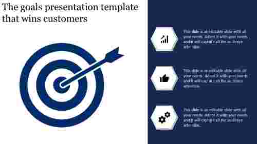 Goals Presentation Template with Icons
