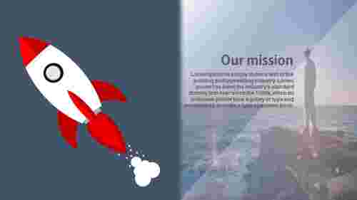 Rocket model mission possible powerpoint template