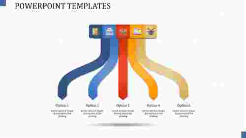 A five noded powerpoint templates