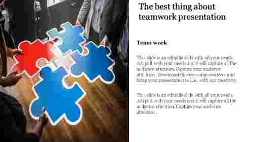 Teamwork presentation with Puzzle Clipart
