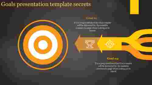 Goals presentation template Design