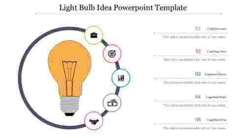 light bulb idea powerpoint template for business