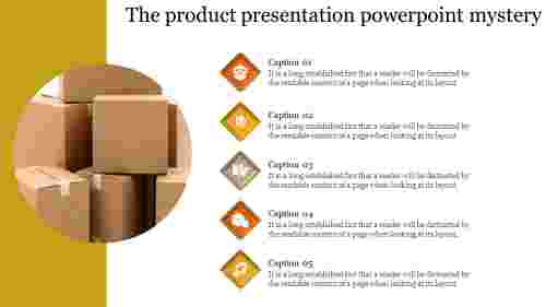 Infographics Product Presentation Powerpoint-Agenda model