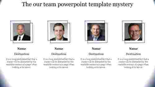 Horizontal Our team powerpoint template