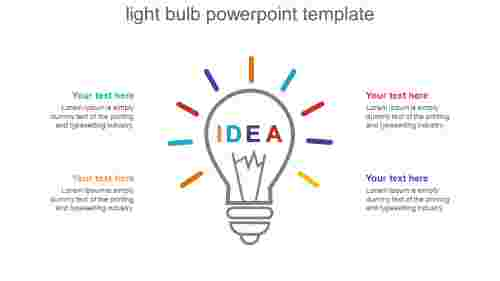 Idea light bulb powerpoint template