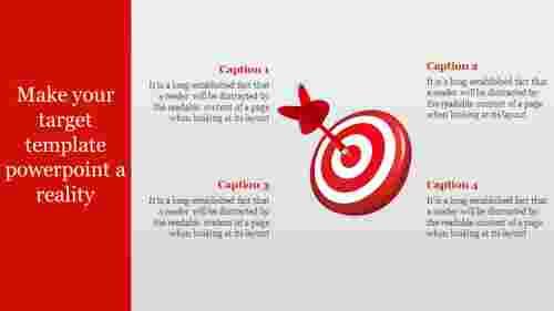 3D Target Template Powerpoint