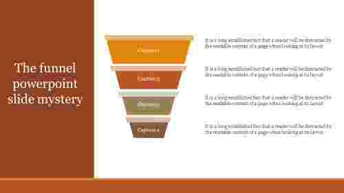 Funnel Powerpoint Slide for best presentation