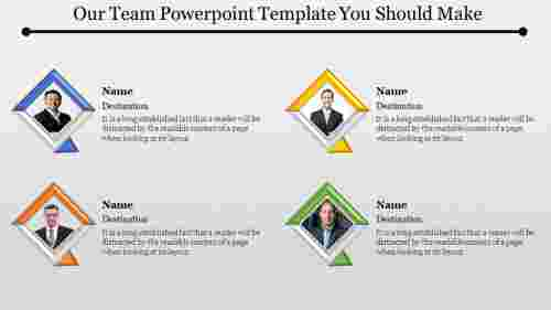 Our team powerpoint template - 3D Diamond Shape