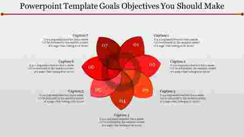 PowerPoint template goal objective blossom design