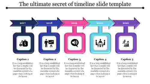 clear timeline slide template