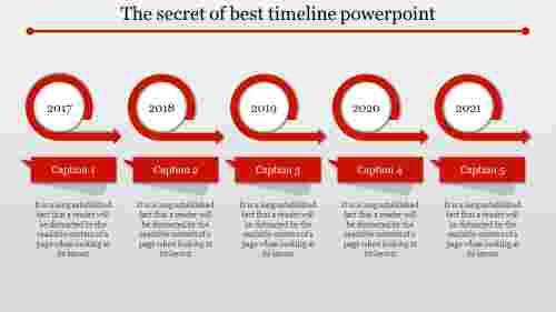 best timeline powerpoint adhered