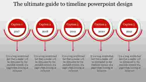 Timeline PowerPoint design-Circular loop model