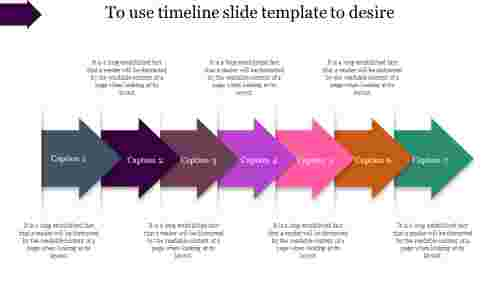 clamped timeline slide template