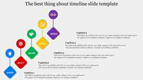 Structural timeline slide template