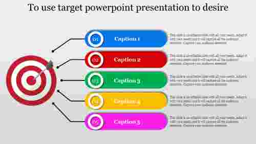 Target powerpoint presentation in Rounded Rectangle Shape