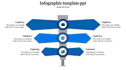 Infographic Template PPT - Direction Indicator Design