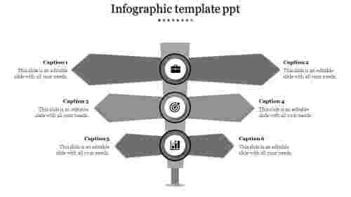 Infographic Template PPT in Arrow shape