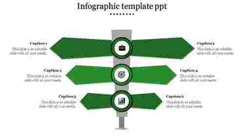 Infographic Template PPT - 3 Level Indicator