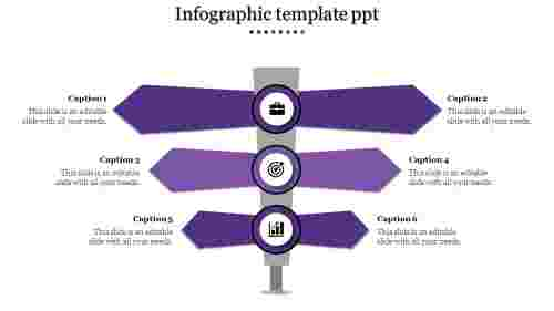 Infographic Template PPT - 6 way direction