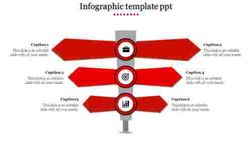 Infographic Template PPT - 6 Way Process