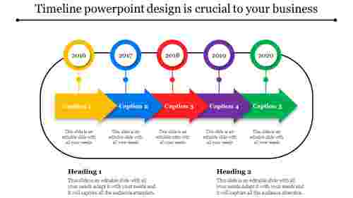 progressive timeline powerpoint design