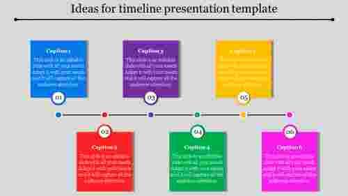 plain timeline presentation template