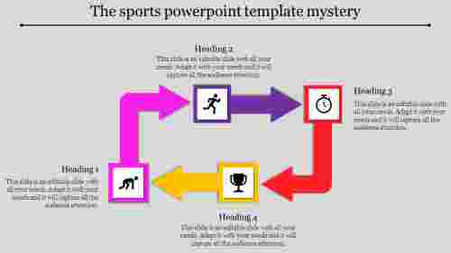 Bend arrows Sports Powerpoint Template