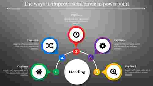 semi circle in powerpoint