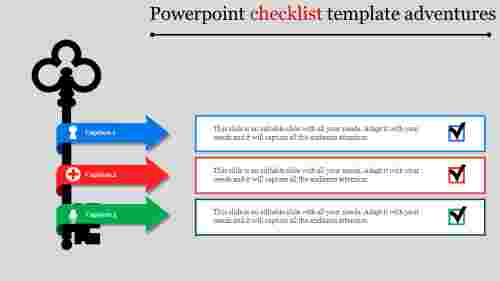 Arrows powerpoint checklist template