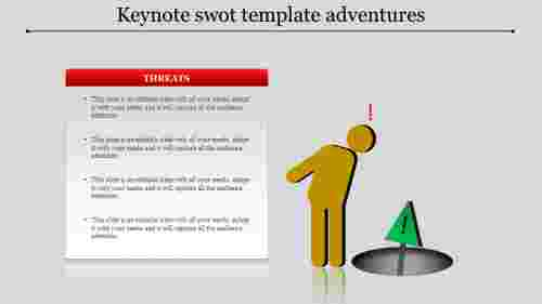 Keynote Swot Template - Points text box